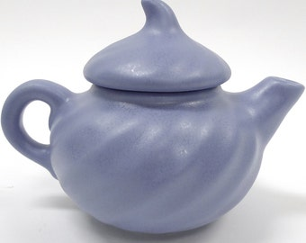 Vintage Camark Art Pottery/Ceramic Small Matte Blue Teapot