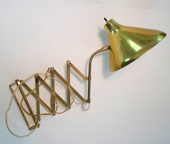 Wall Mounted Accordion Lamps : Vintage Brass Accordion Wall Lamp by BOLDvintage on Etsy