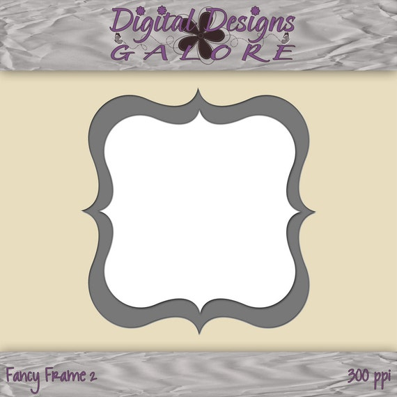 Fancy Frame 2 - For Use in Photoshop and Photoshop Elements - Layered .PSD - Digital Frame - Digital Designs Galore