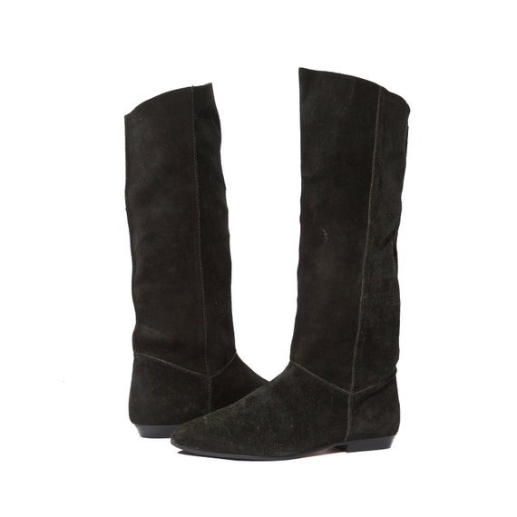 Tall Suede Boots Knee High Fashion Riding Boots in Women's Size 8 - 8 1/2