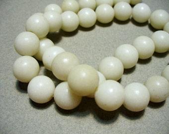 Jade Beads Gemstone White 10MM