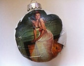 Pin Up Girl Christmas Ornament