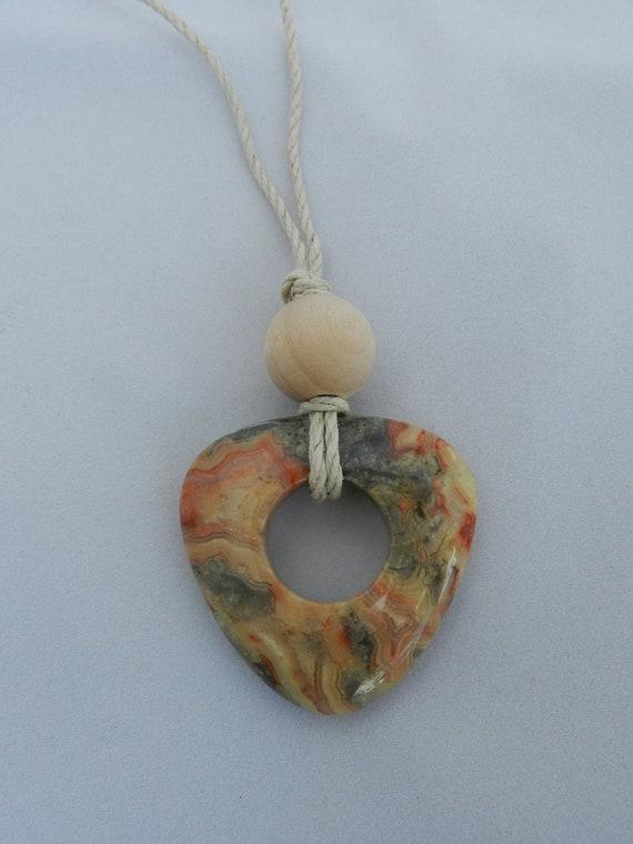 Nursing Necklace - Simple Stone Triangle Pendant