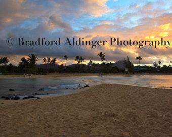 Sunrise over Poipu, Kauai, Hawaii - Photograph