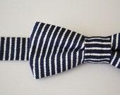 Bowtie Boys Ages 2-10 in Navy Blue Stripe
