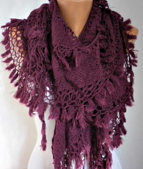 SALE  Fabric Knitted Lace Scarf  Shawl Scarf Cowl Scarf  Long Scarf  Knitted Scarves For Sale