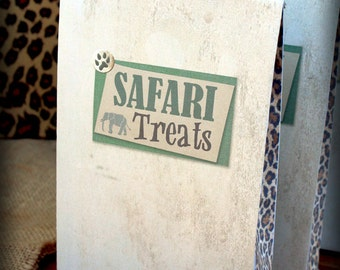 Safari Party Bag Template - INSTANT DOWNLOAD - Printable African Jungle Birthday Party Decorations, Decor by Sassaby Parties
