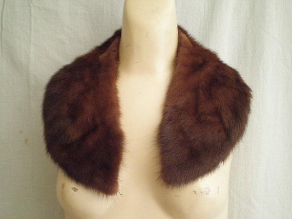 1950s Vintage Genuine Mink Fur Collar for Sweater or Coat