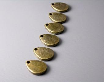 CHARM-AB-DROP-11MM - Antique Bronze Rain Drop Charm - 10 pcs