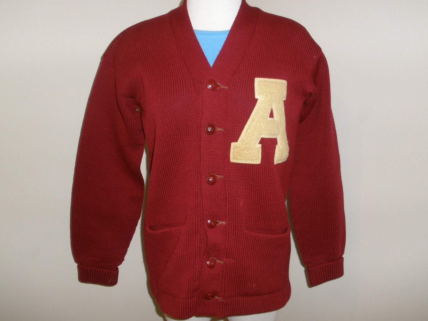 vintage varsity letter sweater 1950s With varsity letter sweater