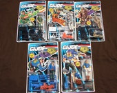 Vintage Lot of 5 G.I. Joe Battle Corps (1992) Hasbro figures Backblast, Duke, Frostbite, Keel-Haul & Wild Bill