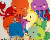 Under the Sea Party Picks - Set of 12