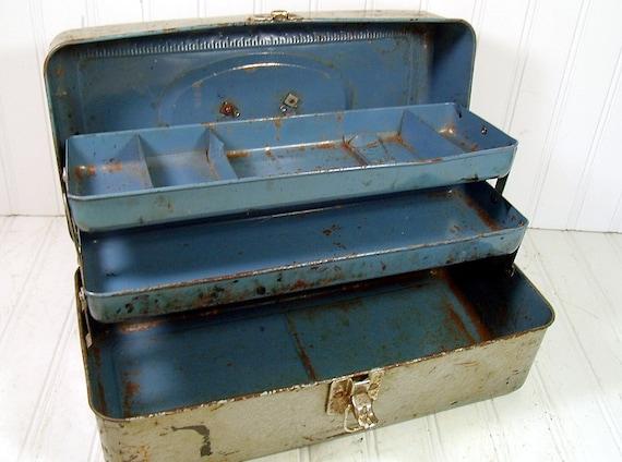 Union Steel Utility Chest - Vintage Tri-Level Tool Box - LeRoy, NY