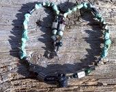 blackstone skull pendant turquoise necklace 22 inches