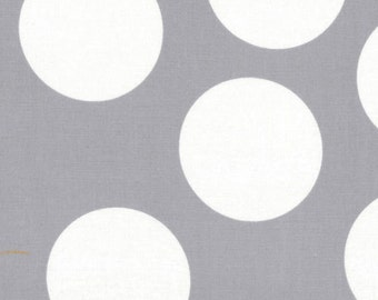 SALE - Half Moon Modern by Moda - Large Dot in Steel - Cut Options Available