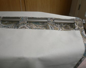 Blackout Drapery Lining for your custom curtains, one pair