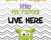8x10 Little Monsters Halloween Digital Print INSTANT DOWNLOAD