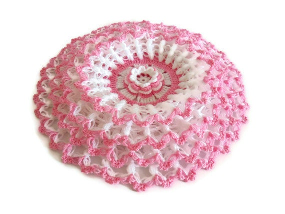 valentines day gift, Handmade  Crochet Dishcloths Washcloths,  mothers day,  Pinky and white, unique gift