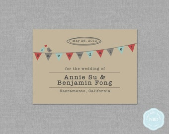 Love Birds Save the Date Card [Printable | DIY | Digital File]