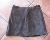 Vintage Wilsons Leather Brown Suede Mini Skirt - Size 2