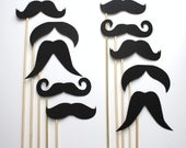 Photo Booth Props. Wedding Photo Props. Photo Props. Mustache. Props on a Stick. Mustache on a Stick - The All Stache Pack