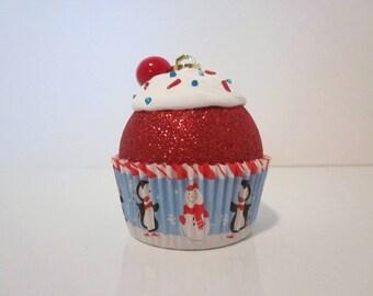 Cupcake Christmas Ornament