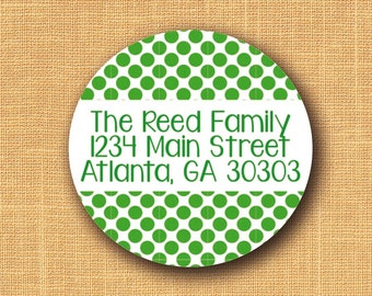 80 Return Address Labels - Personalized Address Stickers - Custom Shipping Labels