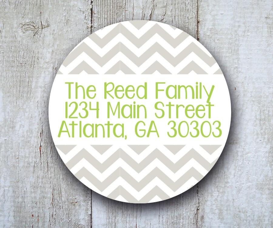 80 round address labels personalized return address stickers