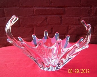 Collectible Signed COFRAC Art Verrier French Art Glass Splash Centerpiece Bowl