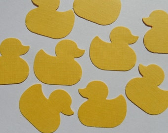 100 Yellow Duck Die Cuts Paper Punches Scrapbooking Embellishments Confetti Rubber Ducky