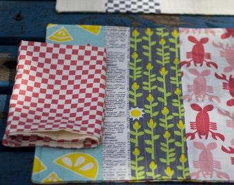 Chequered napkins