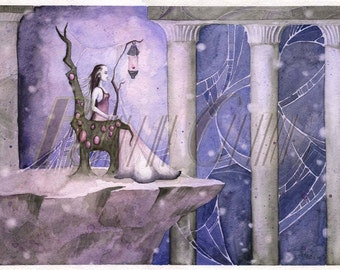 Spider, Watercolor Print Fantasy Fairy