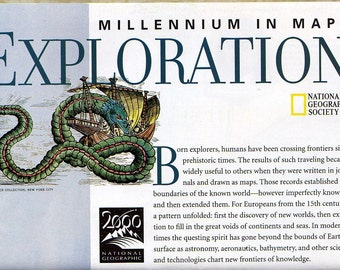 NATIONAL GEOGRAPHIC Map of World Exploration - Ethnographic, Historical  Map -   Millennium in Maps series by National Geographic