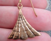 Antique Look Brass Pair Dangle Earrings TRIANGLE