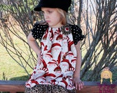 One Funky Santa- Girls Peasant Style Holiday Dress.............The Princess in Pigtails Designs