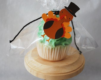 Reginald the Top Hatted Turkey Hang Tags In Your Choice of Color Qty 6 By Your Little Cupcake