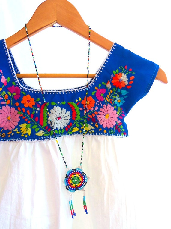 Celina Mexican Handmade Embroidered Mix Cotton baby Tunic dress