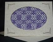 Handwoven Note Card Purple (C141)