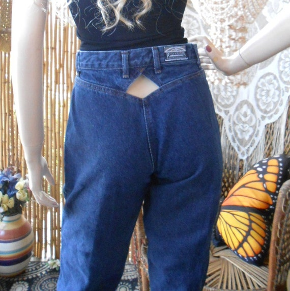 Vintage 80 S Rockies High Waisted Denim Jeans With Cut