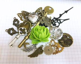 Steampunk Supply Lot Charm Pack 6