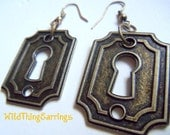 Keyhole To The Soul Squared Dangle Earrings