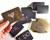 Rustic Wedding Chalkboards Small Place Cards, Signages or DIY Save the Date Cards