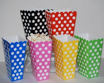 treat boxes polka dot popcorn boxes 24 count party box candy