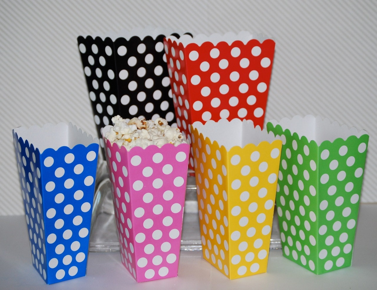 treat boxes polka dot popcorn boxes 8 count party box candy buffet treat box snack box gift box you pick colors