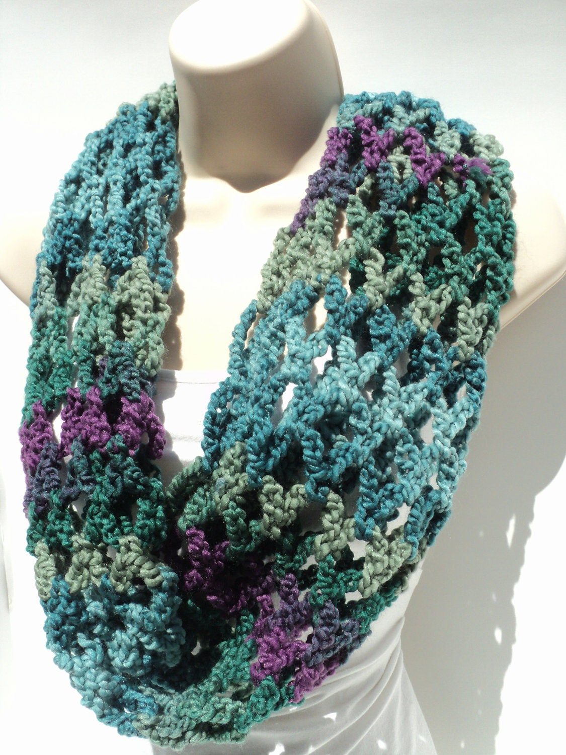 Free Crochet Unique Scarf Patterns : Crochet PATTERNS Bulky Cowl Chunky Chain by Lifeinsmallspaces