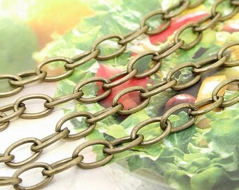"""Long One Chain  egg Loop Egg Copper Metal   Chain 6mmx10mm---  38"""""""