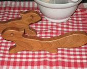 Oven Rack Pusher Puller, Solid CHERRY Squirrel - Hostess Gift - Kitchen Tool - New LOWER Price