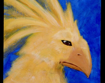 Final Fantasy Chocobo original acrylic painting art artwork Brandy Woods