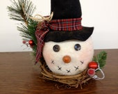 SNOWBALL HEAD  Centerpiece, Snowman