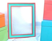 Hand Painted Hard Wood Framed Mirror